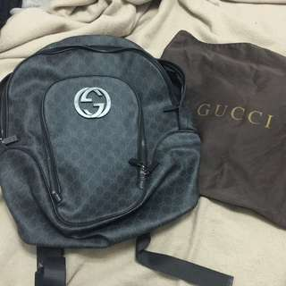 Authentic Interlocking G Gucci Backpack