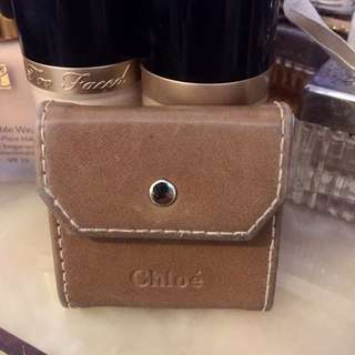 Chloe Makeup Leather Makeup Mirror Pouch