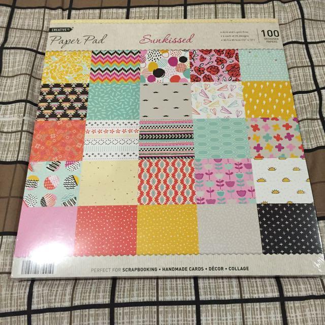 12x12 Scrapbook Paper Pads