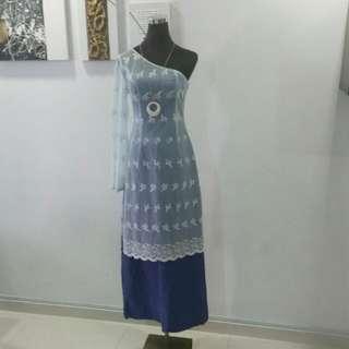 Toga Indian-fusion kurung With FREE tube Dress