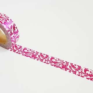 Pink Foil Spiral Washi Tape Roll