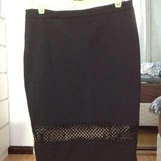 Black Midi Skirt Size 14