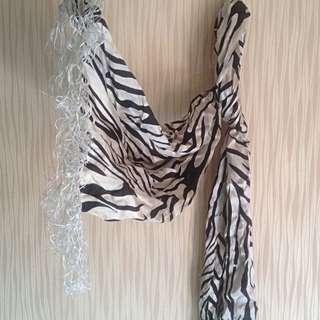 Zebra Fringe Shal