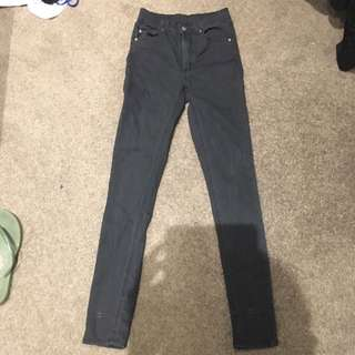 Cheap Monday Second Skin Super Black Jeans Size 26/32