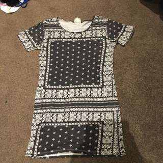 All about Eve Bandana Print Casual Tshirt Dress Size 10