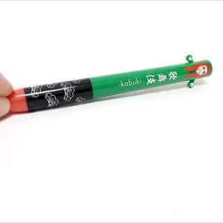 歌舞伎 雙色原子筆