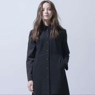 黑色薄紗罩衫襯衫