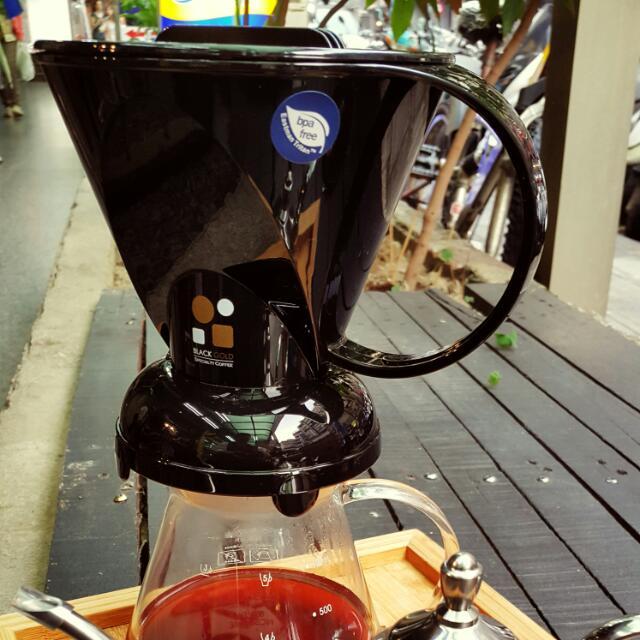 黑金聰明咖啡濾杯1~7人( 送濾紙/咖啡豆)