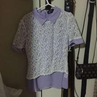 Purple Peter Pan Shirt