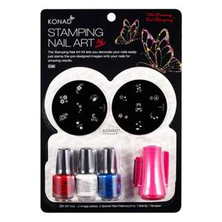 Konad Stamping Nail Art C Set + 1 Image plate of your choice!