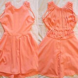 Pastel Pink Backless Dress