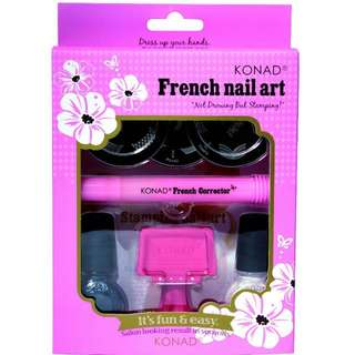 Konad Stamping Nail Art French Set + 1 image plate of your choice