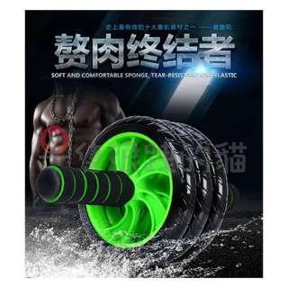【包郵】 顏色隨機/三輪靜音健腹輪加瑜伽墊/運動/健身/健身器材/健腹機/美腰機/雙輪/健腹輪/滾輪/健美輪/伏地挺身器。
