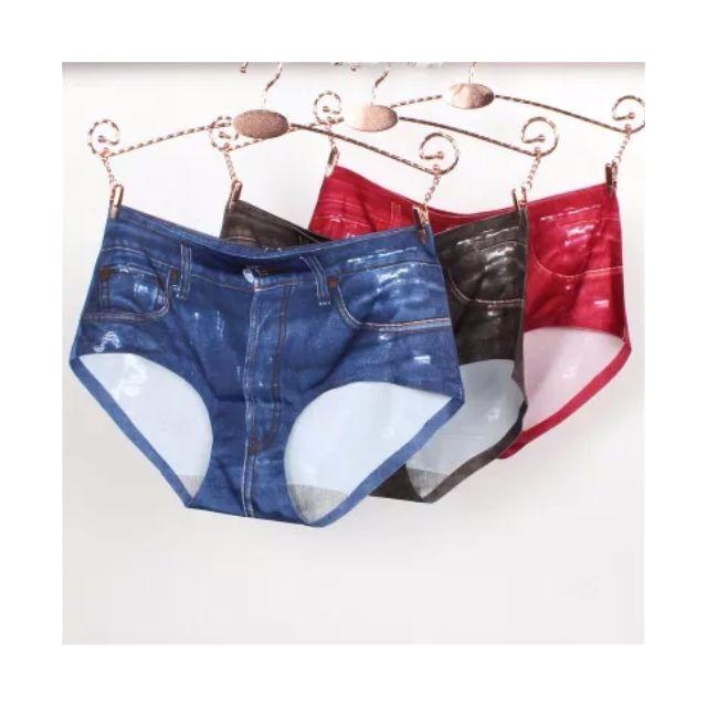 防走光牛仔內褲(安全褲)共黑紅藍三色