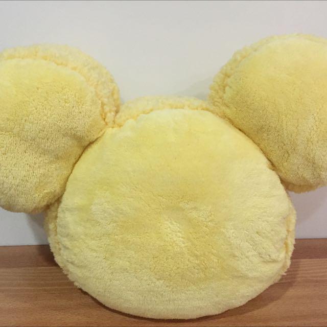 迪士尼米奇黃色馬卡龍抱枕