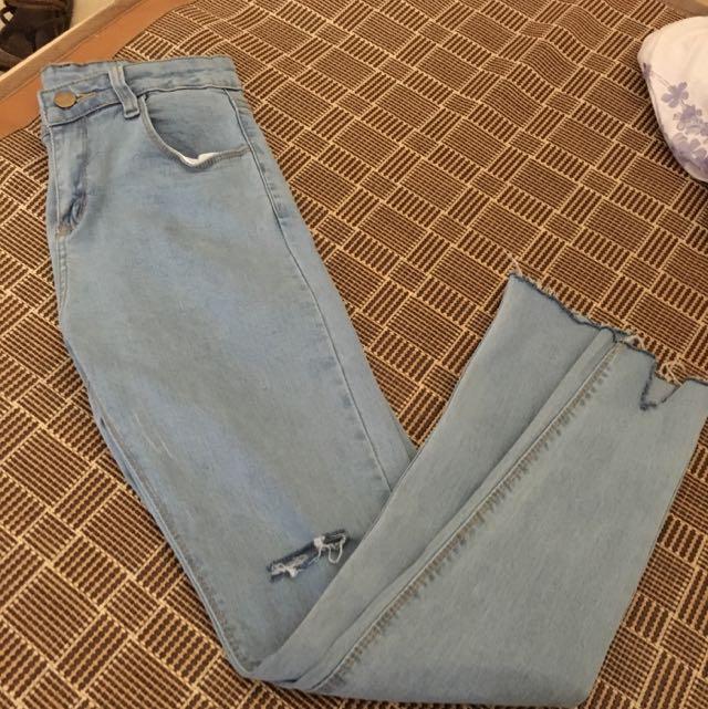 韓版牛仔褲(含運