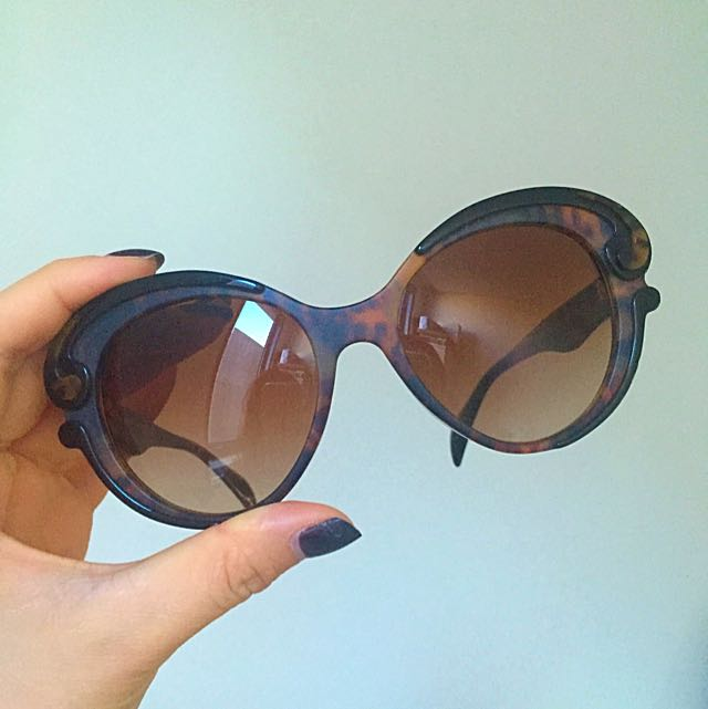 Authentic Prada Butterfly-Frame Acetate Sunglasses