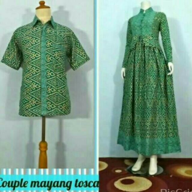Batik Couple Gamis Kemeja On Carousell