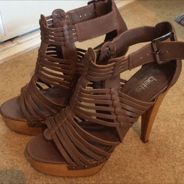 Betts Brown Strappy Heels