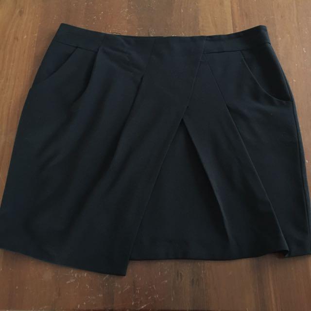 Black Size 18 Corporate Work Skirt