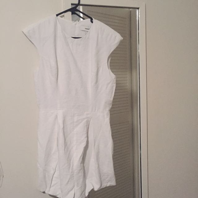 CAMEO White Linen Playsuit