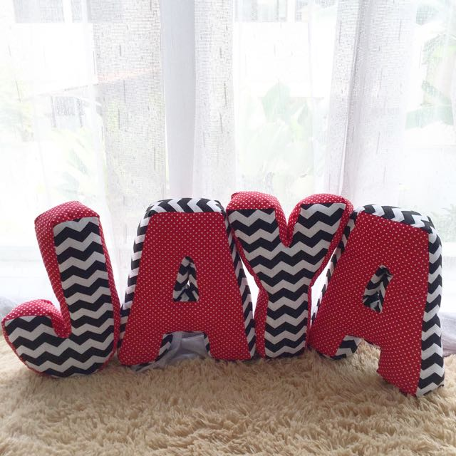Customize Alphabet Pillow