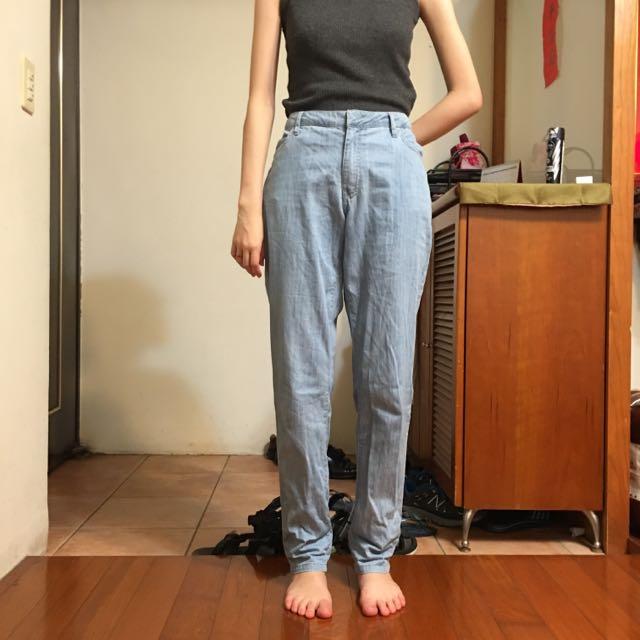 DEAR FLURA 日本品牌 M/L軟性淺藍牛仔褲