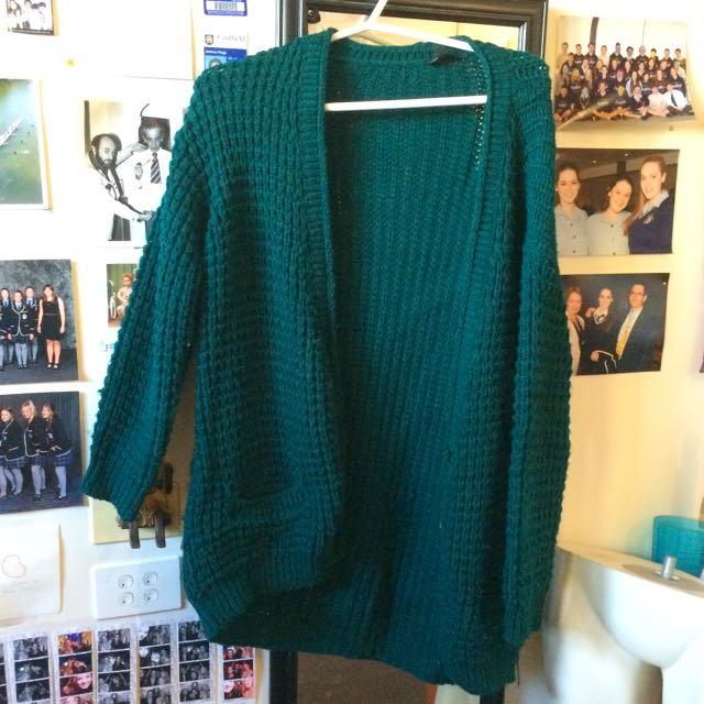 Emerald Green Top shop Cardigan