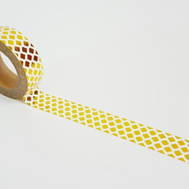 Gold Foil Diamond Washi Tape Roll