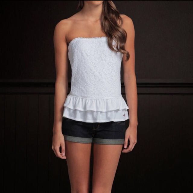Hollister Lace Tube Top