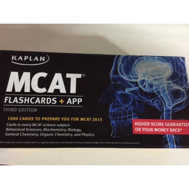Kaplan MCAT Flashcards + App (Kaplan Test Prep) Third Edition