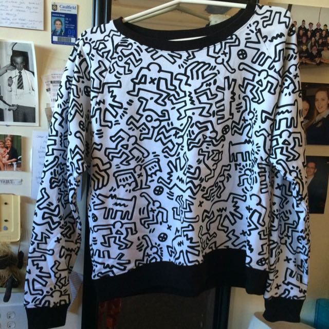 Keith Haring Print Size 16 Jumper