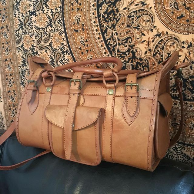 Large Overnight Handmade Leather Bag