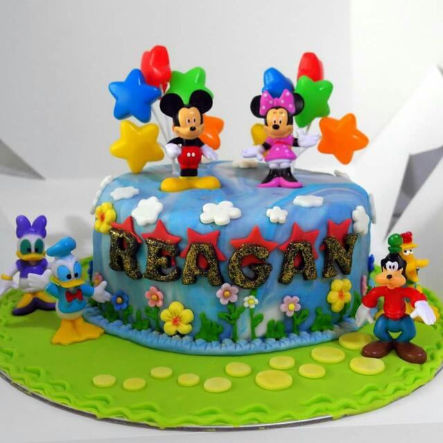 Outstanding Disney Mickey Minnie Topper Mouse Customized Cake Cupcake My Funny Birthday Cards Online Inifofree Goldxyz