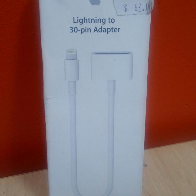 Original Apple Lightening To 30 Pin Adapter