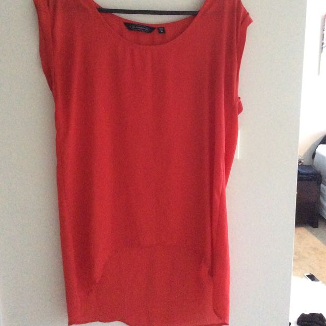 Red And Blue Glassons Tops