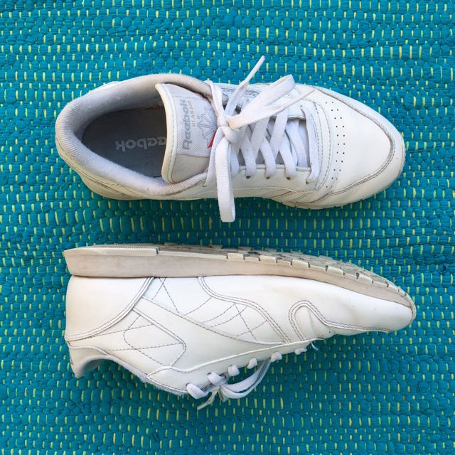 Reebok White Classic Leather Sneakers