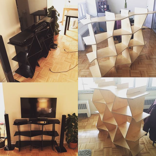 Six Piece Shelves & Tv Stand