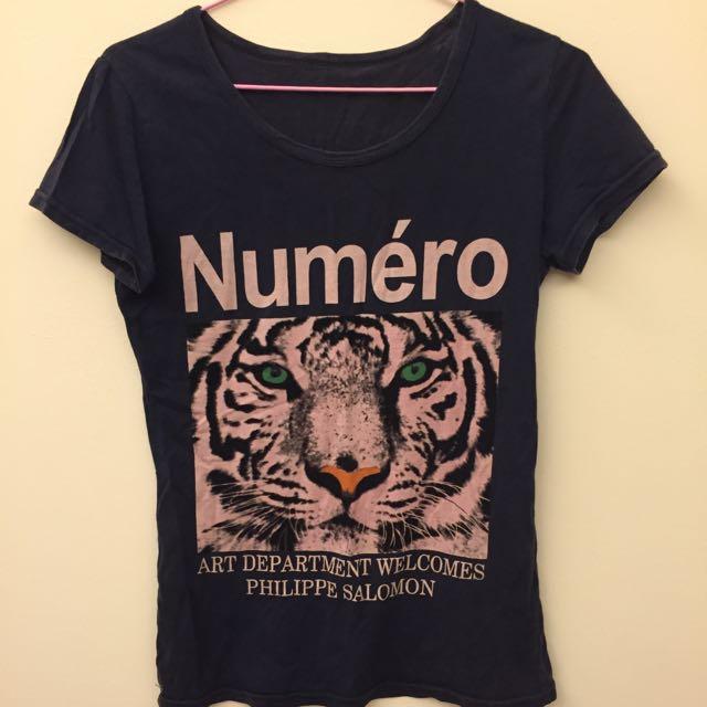 女生老虎T恤