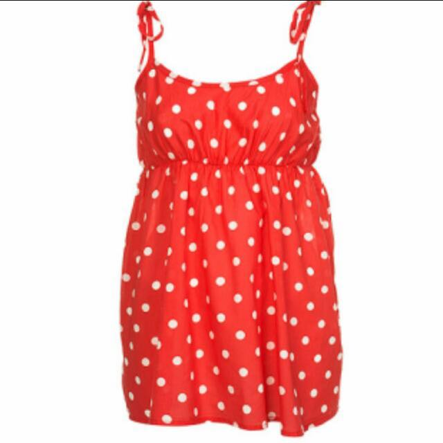 Topshop Red Polka Dot Camisole