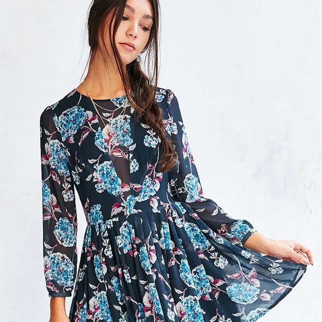 UO Kimchi Blue Sheer Panel Dress
