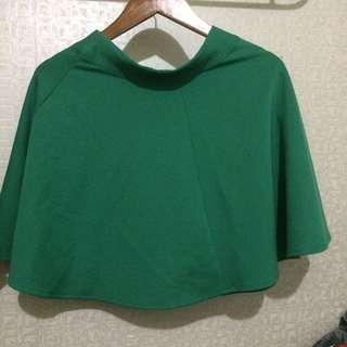Green Flare Skirt