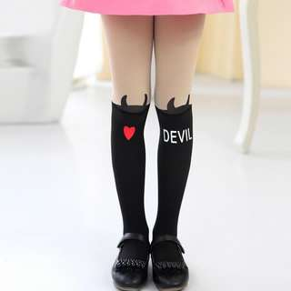 Thigh High Tattoo Tights - Girls