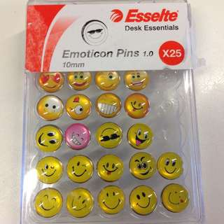 Emoji Emotion Cork Board Pins