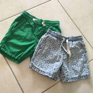 Seed Heritage Shorts X 2 Size 2-3 EUC