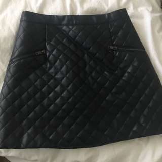 Checkered Pattern Skirt