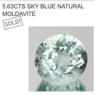 Huge 5.63 Sky Blue Natural Moldavite