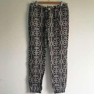Zara Black And White Print Pant 🚫NO PICKUPS🚫