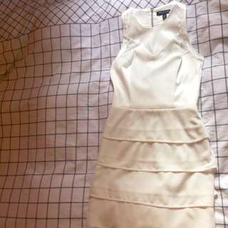 Toi Et moi Structured Ivory Dress
