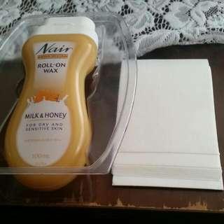 Nair Milk & Honey Roll-On Wax